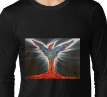 Flame Feather Phoenix Long Sleeve T-Shirt