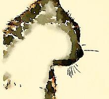 Watercolor Cat by weatherington