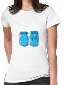 mason jar lights  Womens Fitted T-Shirt