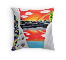 Beyond the Waterfall Throw Pillow
