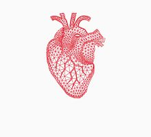 red human heart with geometric mesh pattern T-Shirt