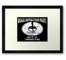 Disco Demolition Night - White Framed Print