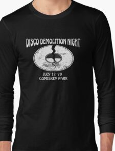 Disco Demolition Night - White Long Sleeve T-Shirt
