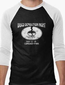 Disco Demolition Night - White Men's Baseball ¾ T-Shirt