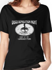 Disco Demolition Night - White Women's Relaxed Fit T-Shirt