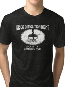 Disco Demolition Night - White Tri-blend T-Shirt