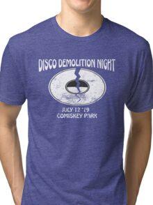 Disco Demolition Night - White Tri-blend T-Shirt