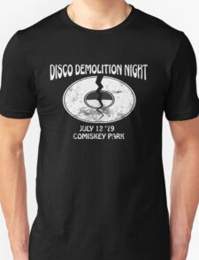 Disco Demolition Night - White Unisex T-Shirt