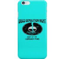 Disco Demolition Night - Black iPhone Case/Skin