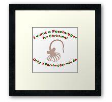 Facehugger for Christmas Framed Print