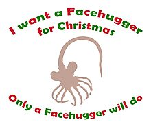 Facehugger for Christmas Photographic Print