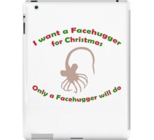 Facehugger for Christmas iPad Case/Skin