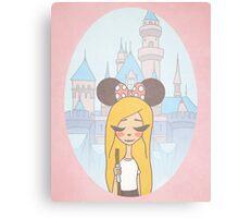Disneyland Girl - Disney World Girl - Disney Girl  Canvas Print