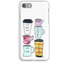 Only the coffee matters! iPhone Case/Skin