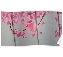 spray paint cherry blossoms Poster