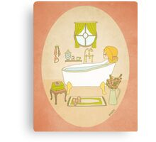 Relax - Bath Time - Me Time - Self Help Canvas Print