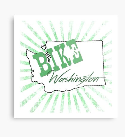 Bike Washington State Metal Print
