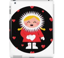 Little Eskimo kid for Valentine's Day iPad Case/Skin