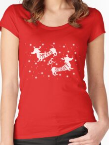 Merry & Bright Christmas Women's Fitted Scoop T-Shirt