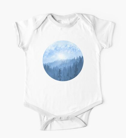 Here Comes The Sun - Misty Forest - Blue One Piece - Short Sleeve