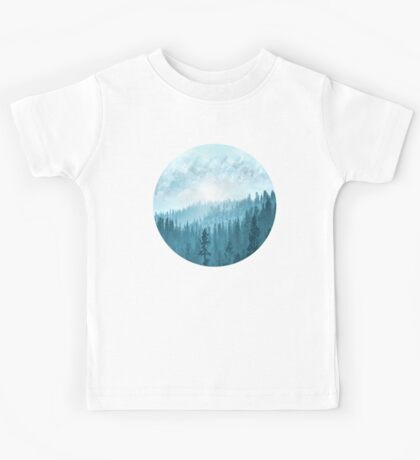 Here Comes The Sun - Misty Forest - Turquoise Kids Tee