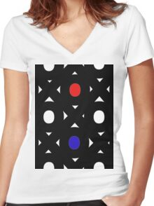 Abstract Geometry  Women's Fitted V-Neck T-Shirt