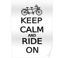 keep calm and ride on word art, text design Poster