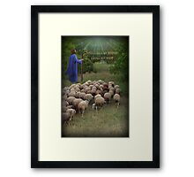 ✌☮ THE LORD IS MY SHEPARD PIC#2✌☮  Framed Print