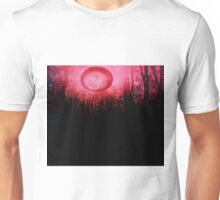 THE RED TREES GALAXY MOON Unisex T-Shirt