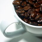 Coffee cup and beans detail by DavidMay