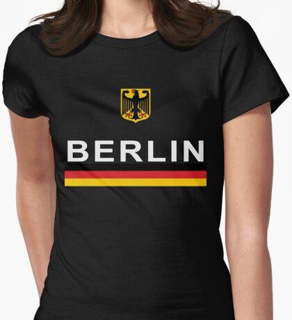 Deutschland Soccer Jersey German Eagle  Womens Fitted T-Shirt
