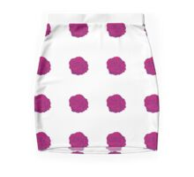 Pretty red/purple rose Mini Skirt