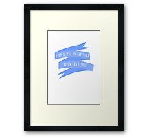 I'm A Leaf On The Wind, Watch How I Soar - Firefly Framed Print