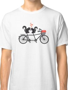 tandem bicycle with squirrels Classic T-Shirt