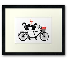 tandem bicycle with squirrels Framed Print