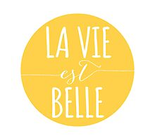 la vie est belle, life is beautiful Photographic Print