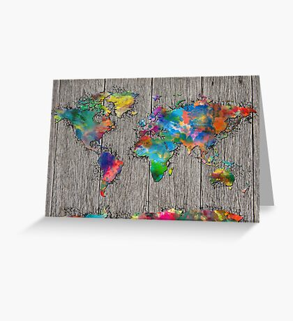 world map  Greeting Card