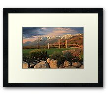 Sunrise In Carson Valley Framed Print