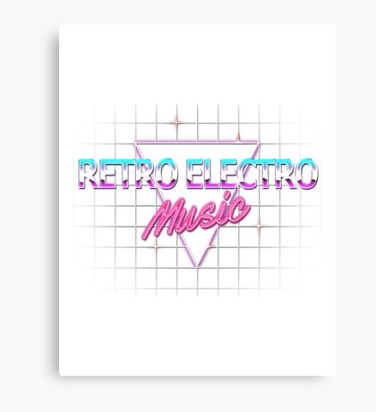 Retro Electro Music Canvas Print