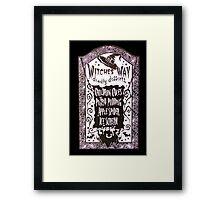 Witch Dessert Menu Halloween Framed Print