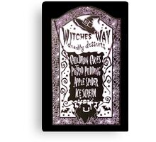 Witch Dessert Menu Halloween Canvas Print