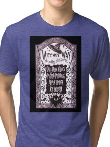 Witch Dessert Menu Halloween Tri-blend T-Shirt