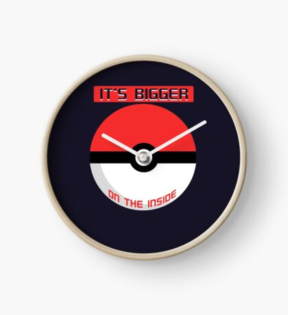 Pokemon - It's bigger on the inside.. Clock