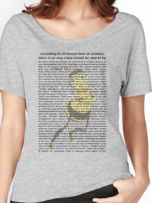 bee movies script Women's Relaxed Fit T-Shirt