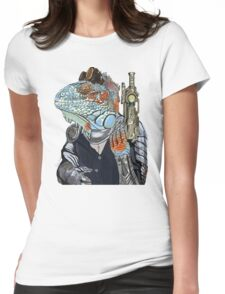 Steam Dragon Sheriff Womens Fitted T-Shirt