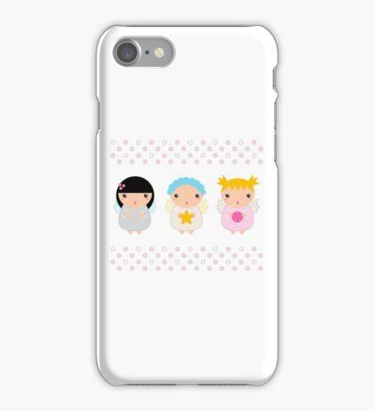 Cute Christmas Kawaii Angels iPhone Case/Skin