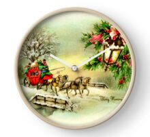 Vintage Christmas, Horse and Carriage Clock