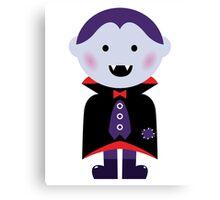 Child in vampire costume : Purple red purple Canvas Print