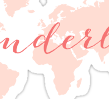 Wanderlust, desire to travel, world map Sticker