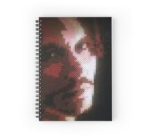 Johnny Depp Perler Bead Art Spiral Notebook